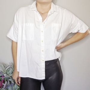 MADEWELL white cotton Courier Shirt boxy 0413